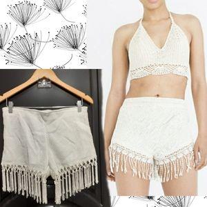 💋OSCAR-ST | Crochet Fringe Shorts